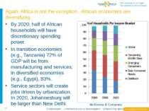 By 2020, half of African households will have discretionary spending power. I...