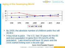 Aging of the Developing World By 2020, the absolute number of children under ...