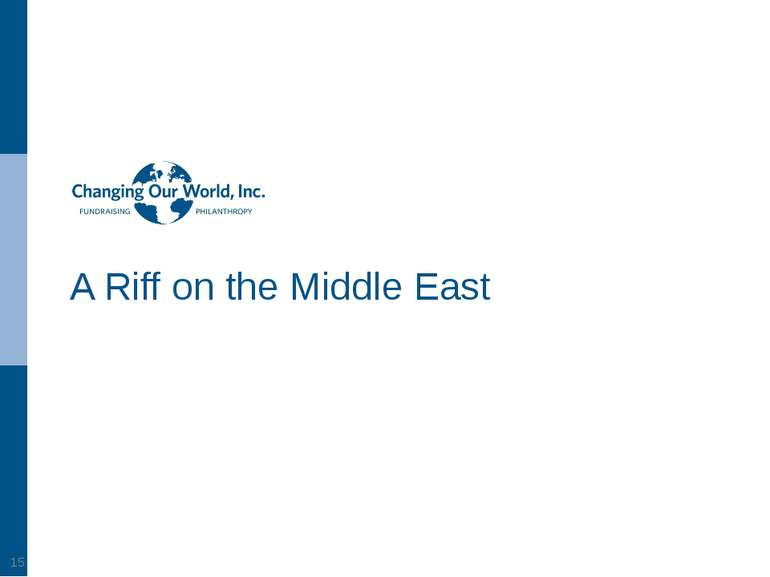 A Riff on the Middle East *