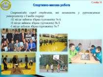 Спартакіада серед студентів, які мешкають у гуртожитках університету з 9 виді...