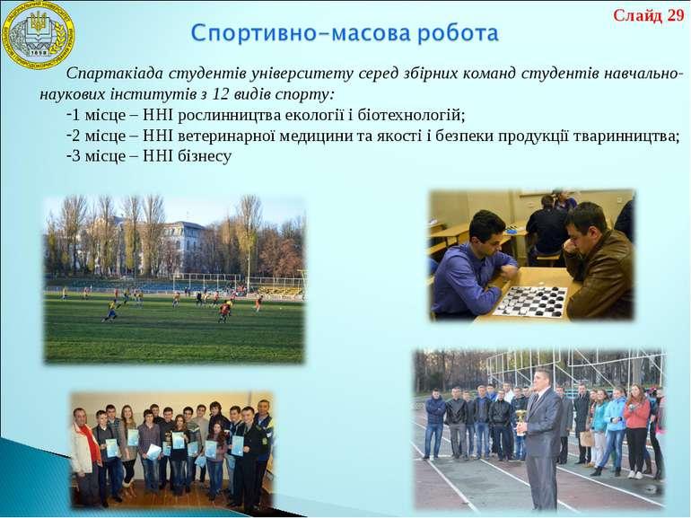 Спартакіада студентів університету серед збірних команд студентів навчально-н...