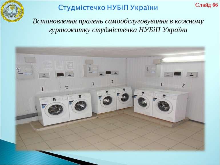 Встановлення пралень самообслуговування в кожному гуртожитку студмістечка НУБ...