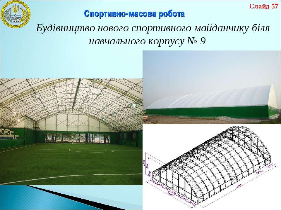 Спортивно-масова робота Будівництво нового спортивного майданчику біля навчал...