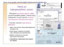Зміни до інформаційних даних Абітурієнт має право внести зміни до реєстраційн...