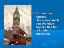 Our tour has finished. I hope very much that you have enjoyed this tour of Lo...