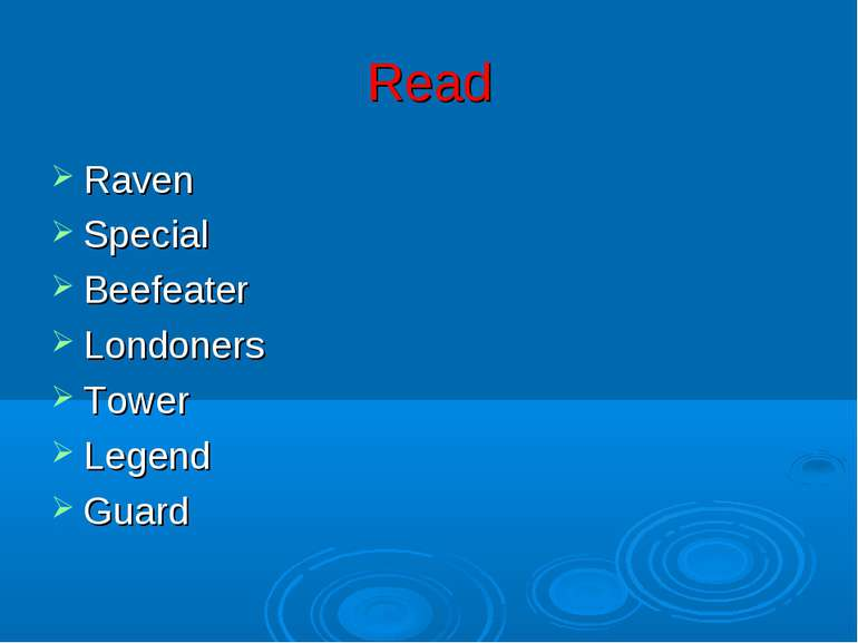 Read Raven Special Beefeater Londoners Tower Legend Guard