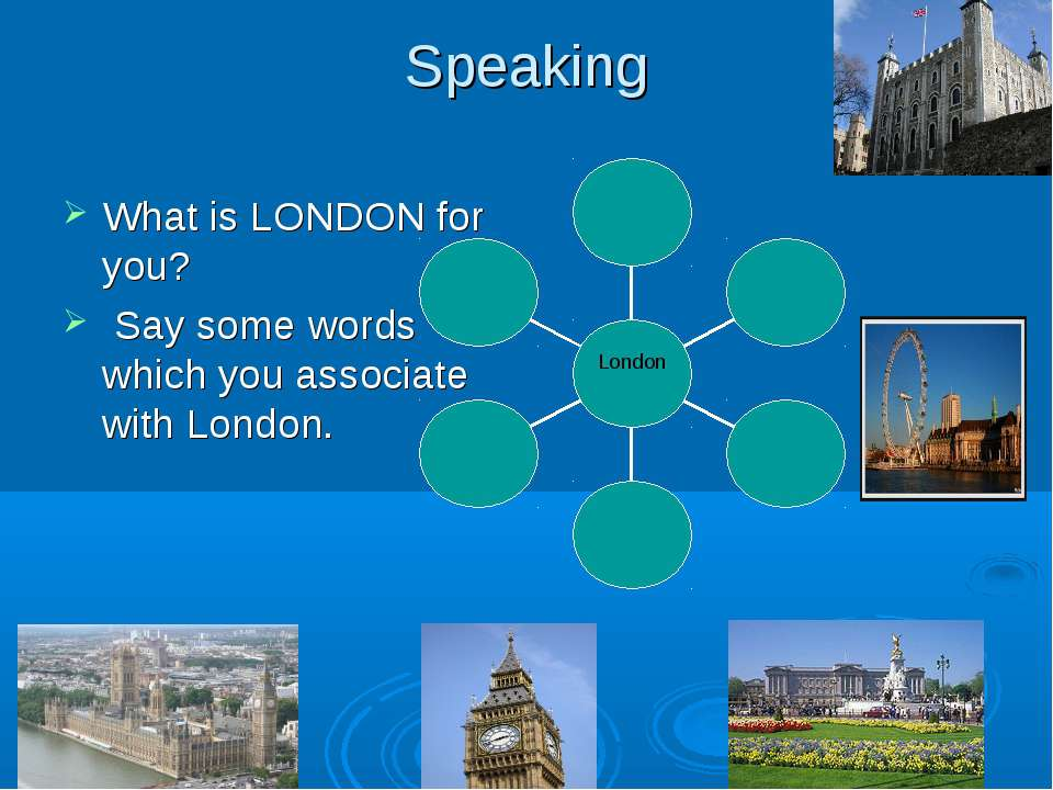 Speaking What is LONDON for you? Say some words which you associate with London.
