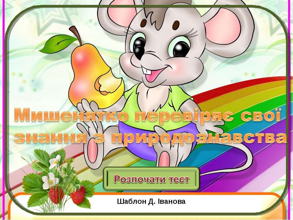 Шаблон Д. Іванова