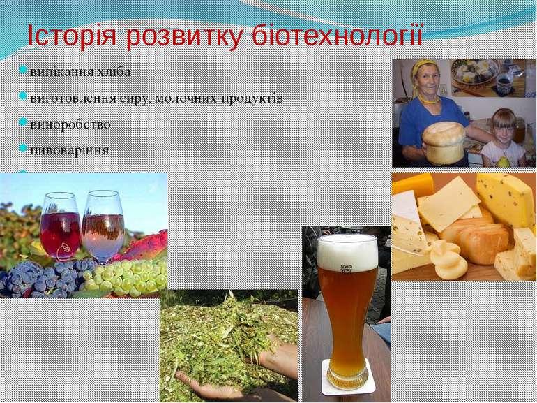 Історія розвитку біотехнології випікання хліба виготовлення сиру, молочних пр...