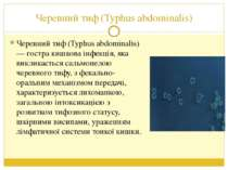 Черевний тиф (Typhus abdominalis) Черевний тиф (Typhus abdominalis) — гостра ...