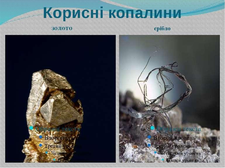 Корисні копалини золото срібло