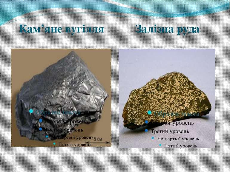 Кам'яне вугілля Залізна руда