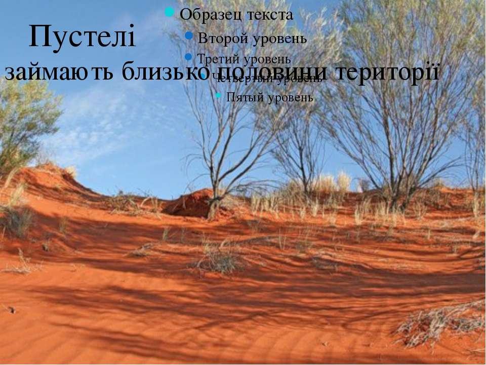 Пустелі займають близько половини території