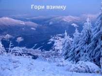 Гори взимку
