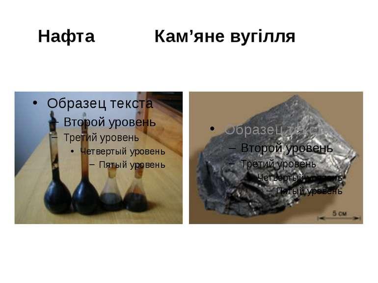 Нафта Кам'яне вугілля
