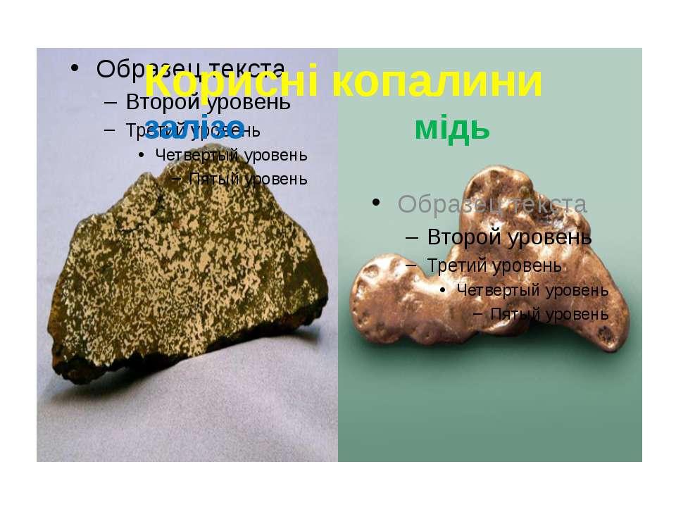Корисні копалини залізо мідь