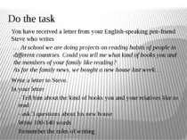 Do the task You have received a letter from your English-speaking pen-friend ...