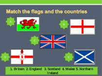 Britain 2. England 3. Scotland 4. Wales 5. Northern Ireland A B C D E