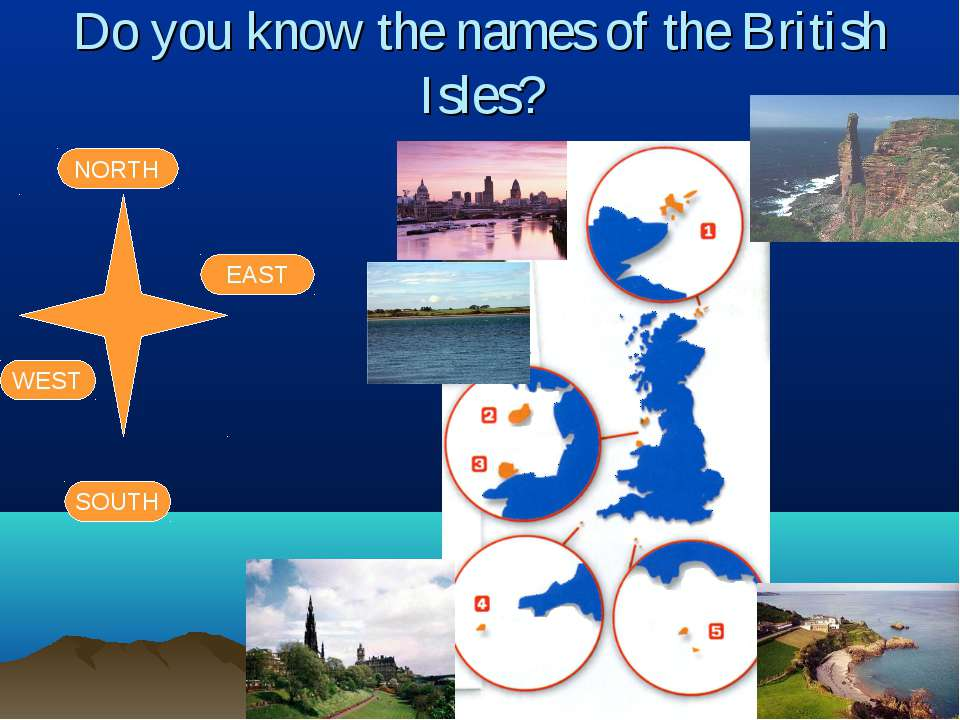 Do you know the names of the British Isles? NORTH SOUTH EAST WEST