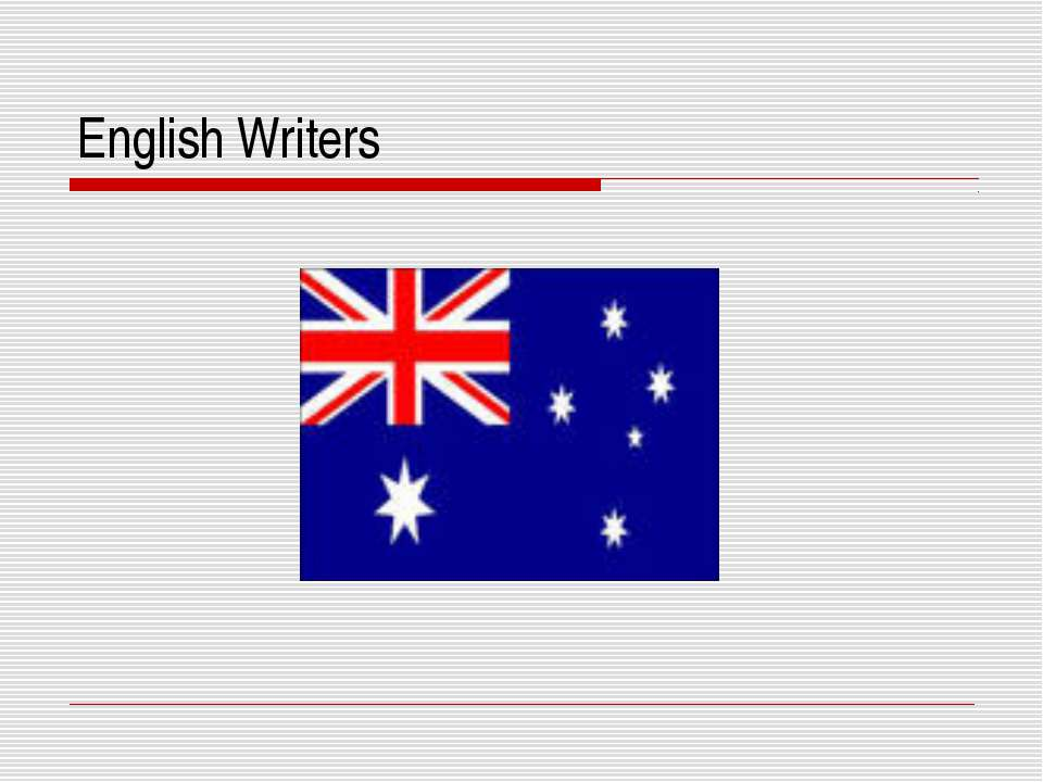 English Writers