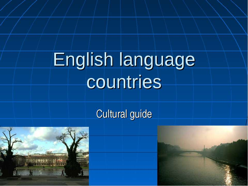 English language countries Cultural guide