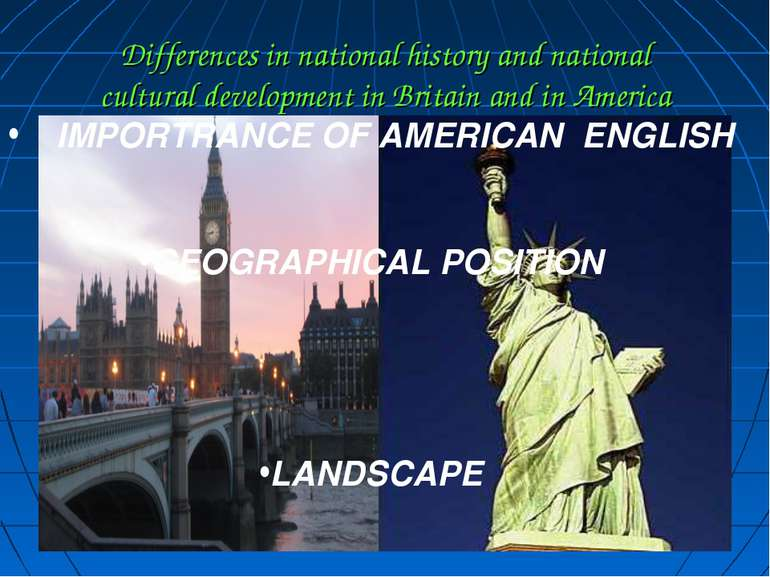 Differences in national history and national cultural development in Britain ...