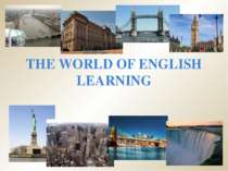 The world of english learning