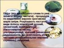 Пілінг (від англійського слова to peel - знімати шкірку, чистити) - процедура...