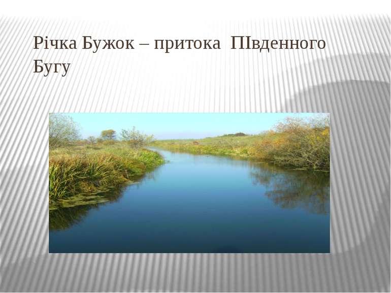 Річка Бужок – притока ПІвденного Бугу