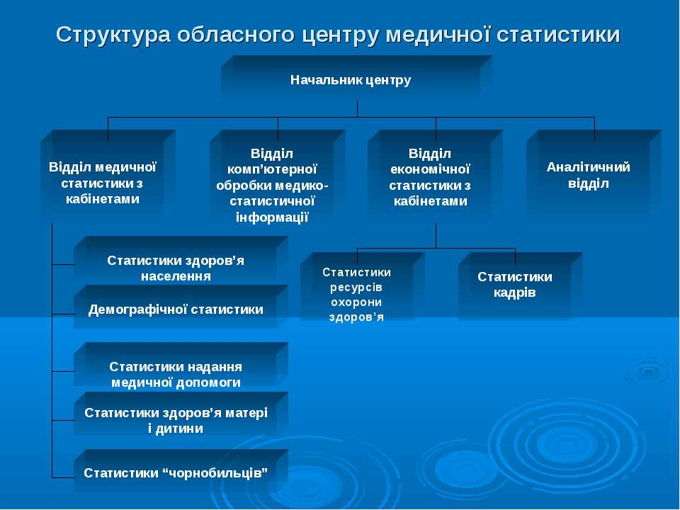 Структура обласного центру медичної статистики
