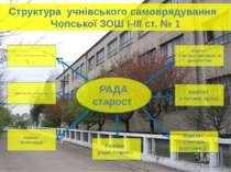 Структура учнівського самоврядування Чопської ЗОШ І-ІІІ ст. № 1 Комітет з пит...