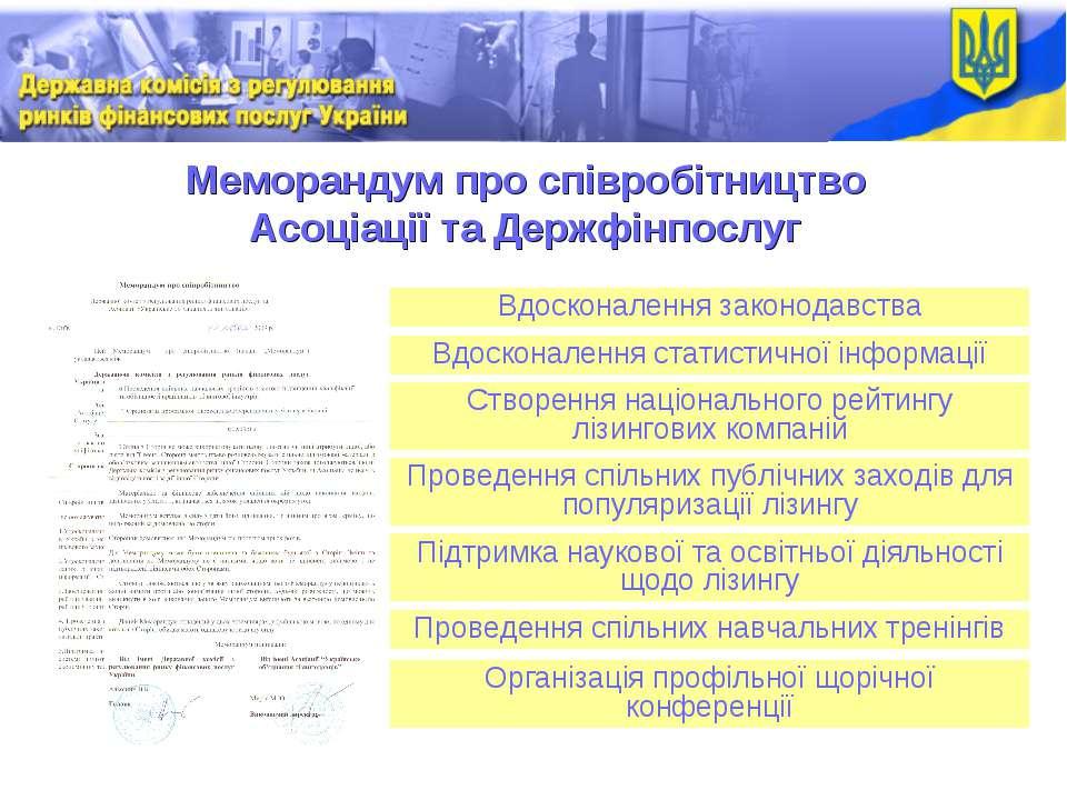 Меморандум про співробітництво Асоціації та Держфінпослуг Вдосконалення закон...