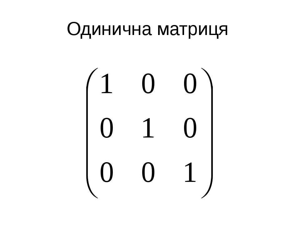 Одинична матриця