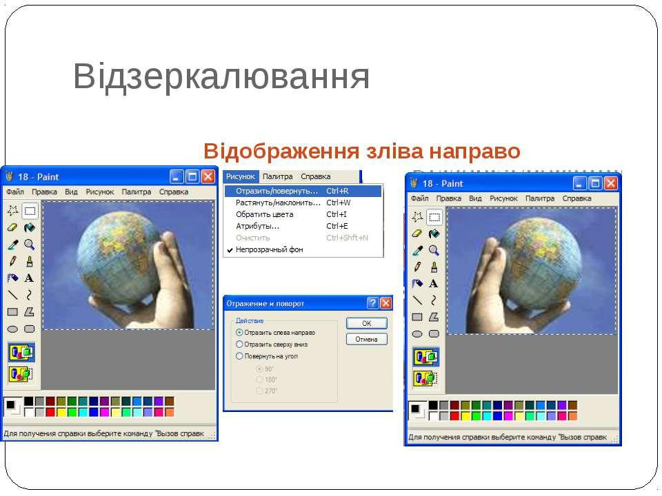 Відображення зліва направо Відзеркалювання