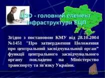 """Згідно з постановою КМУ від 28.10.2004 №1451 """"Про затвердження Положення про ..."""