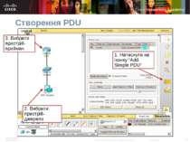 "Створення PDU 1. Натиснути на іконку ""Add Simple PDU"" Packet Tracer 4.1: Novi..."