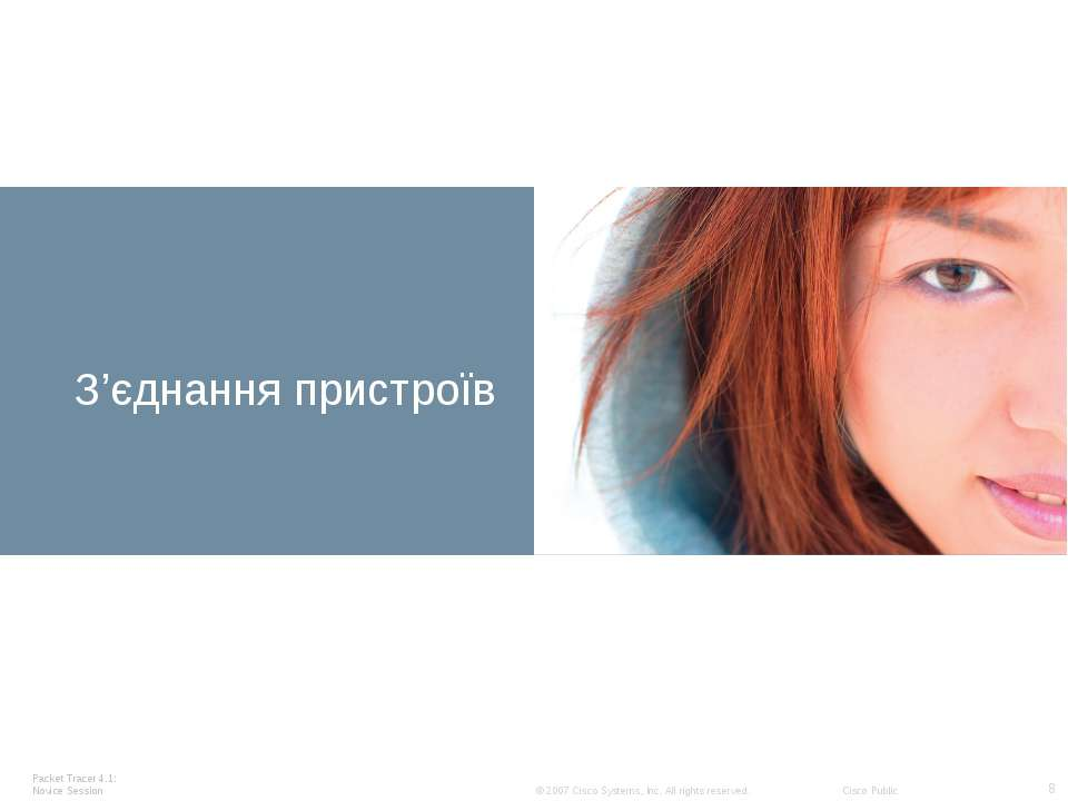 Devices З'єднання пристроїв Packet Tracer 4.1: Novice Session * © 2007 Cisco ...