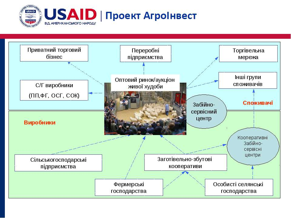 Заготівельно-збутові кооперативи Фермерські господарства Торгівельна мережа П...