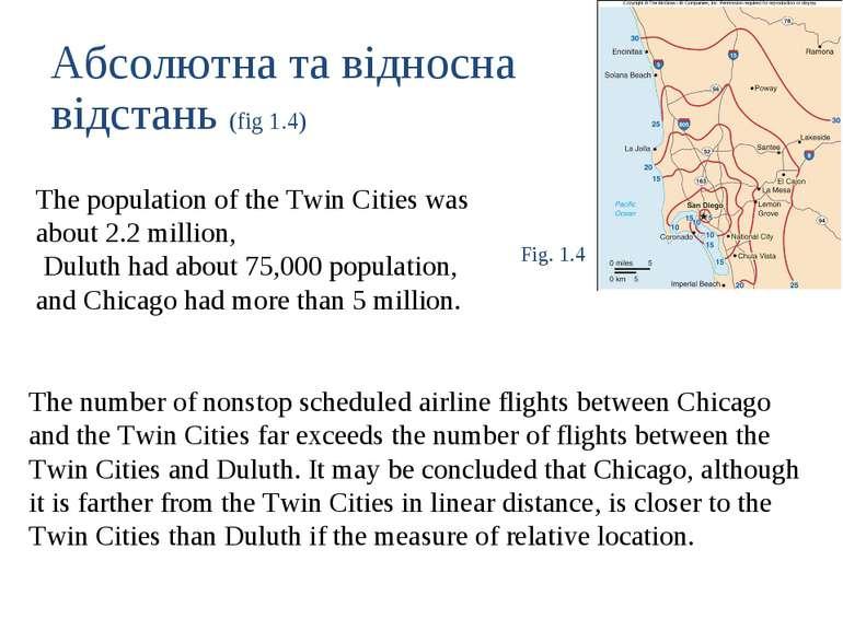 Абсолютна та відносна відстань (fig 1.4) The population of the Twin Cities wa...