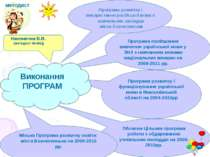 методист Програма розвитку і функціонування української мови в Миколаївській ...