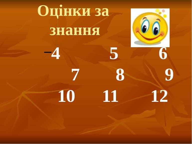 Оцінки за знання 4 5 6 7 8 9 10 11 12 Л.Ф.Самборська. Монастирищенський профе...