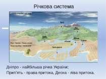 Річкова система Дніпро - найбільша річка України; Прип'ять - права притока, Д...