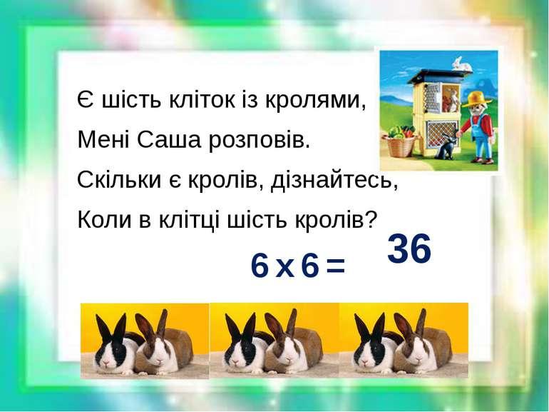 Є шість кліток із кролями, Мені Саша розповів. Скільки є кролів, дізнайтесь, ...
