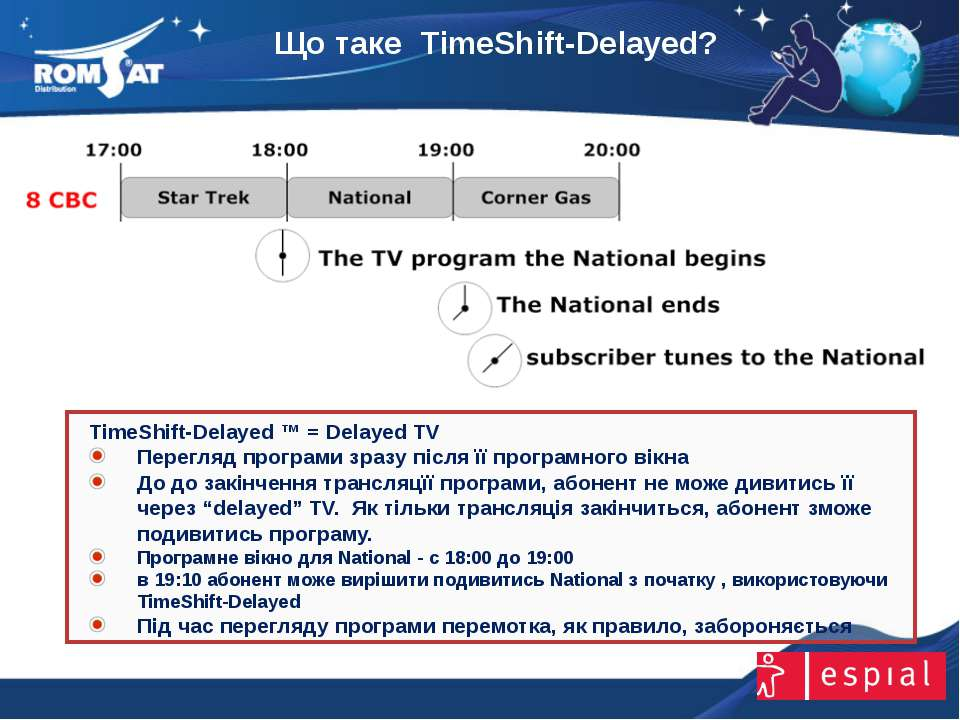 Що таке TimeShift-Delayed? www.romsat.ua E-mail: digital_tv@romsat.ua Тел: +3...
