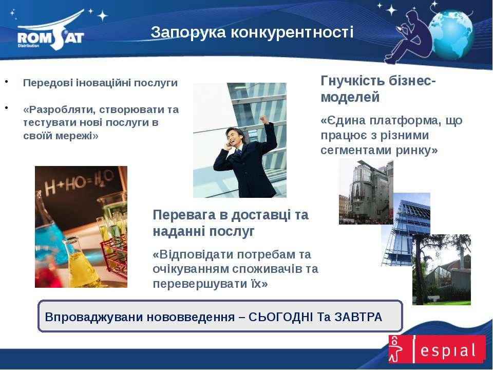Запорука конкурентності www.romsat.ua E-mail: digital_tv@romsat.ua Тел: +380 ...