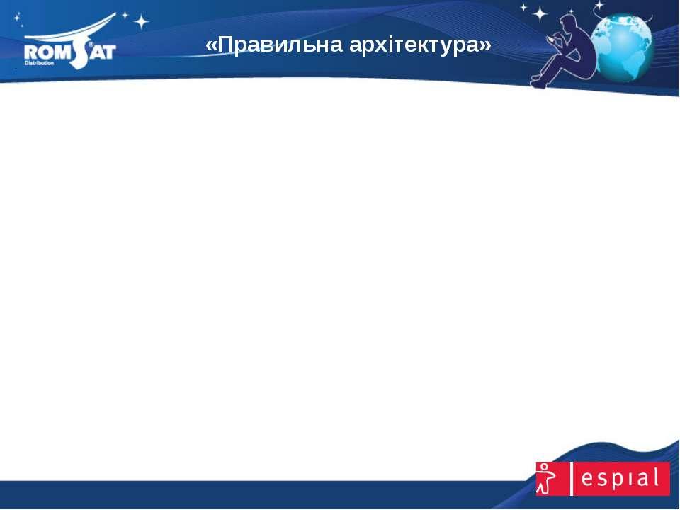 «Правильна архітектура» www.romsat.ua E-mail: digital_tv@romsat.ua Тел: +380 ...