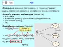 Ant Призначення: виконання повторюваних, як правило, рутинних завдань, пов'яз...