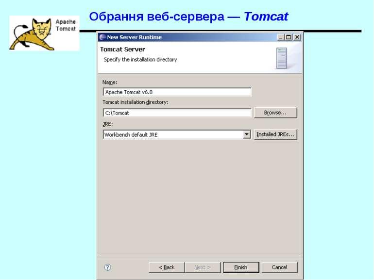 Обрання веб-сервера — Tomcat Spring