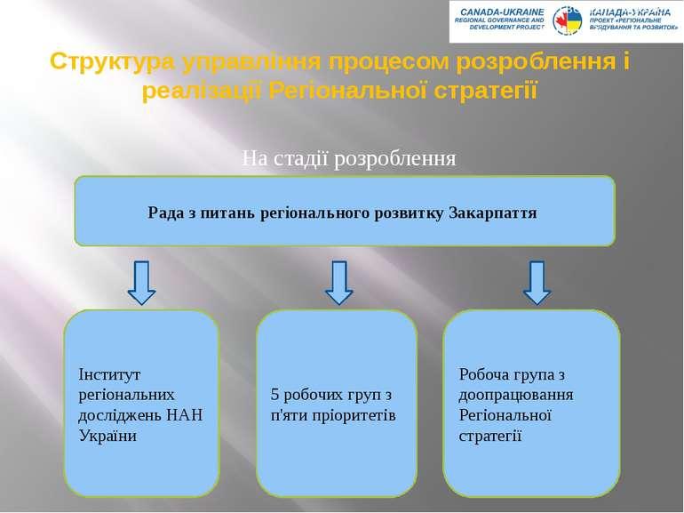 Структура управління процесом розроблення і реалізації Регіональної стратегії...