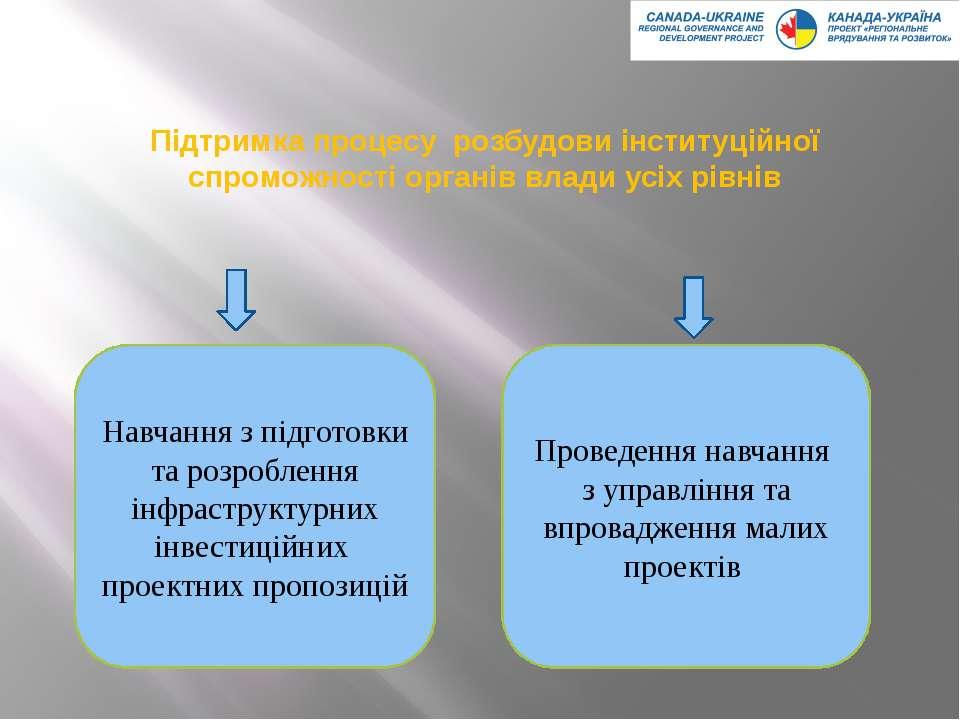 Підтримка процесу розбудови інституційної спроможності органів влади усіх рів...